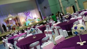Hall Decoration & Setting Dark Purple 1