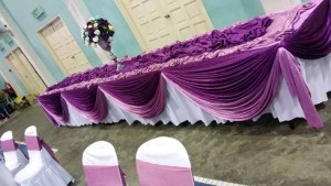 Hall Decoration & Setting Dark Purple 2
