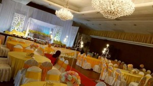 Hall Decoration in Johor Bahru (Yellow T2)