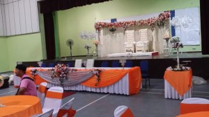 Hall Decoration Orange Theme 1