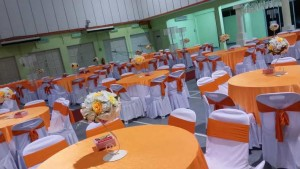 Hall Decoration Orange Theme 3