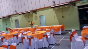 Hall Decoration Orange Theme 4