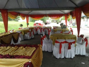 Khemah/Kanopi Outdoor Green Theme 1
