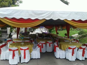 Khemah/Kanopi Outdoor Green Theme 2