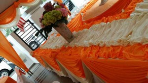 Kanopi/Khemah Outdoor Orange Theme 1