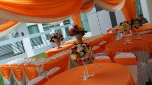Kanopi/Khemah Outdoor Orange Theme 2
