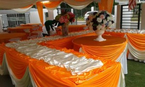 Kanopi/Khemah Outdoor Orange Theme 3