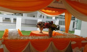 Kanopi/Khemah Outdoor Orange Theme 4