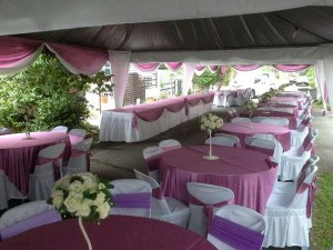 Kanopi/Khemah Outdoor Purple Theme 1
