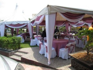Kanopi/Khemah Outdoor Purple Theme 2