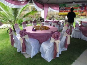 Kanopi/Khemah Outdoor Purple Theme 3