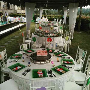 Khemah/ Kanopi Outdoor White Theme 2