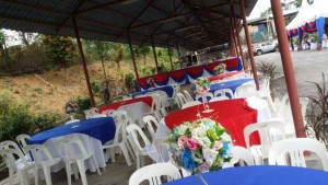 Khemah/Kanopi Red Blue Theme 1