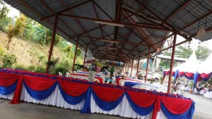Khemah/Kanopi Red Blue Theme 4