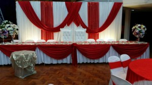 Hall Decoration Red Theme 4